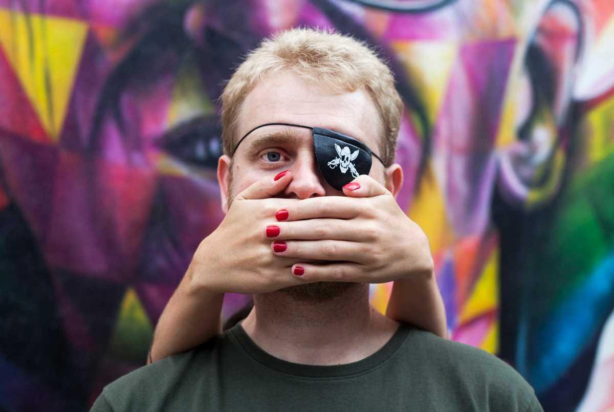 Fotografia da série de imagens da iniciativa em protesto contra a violência policial